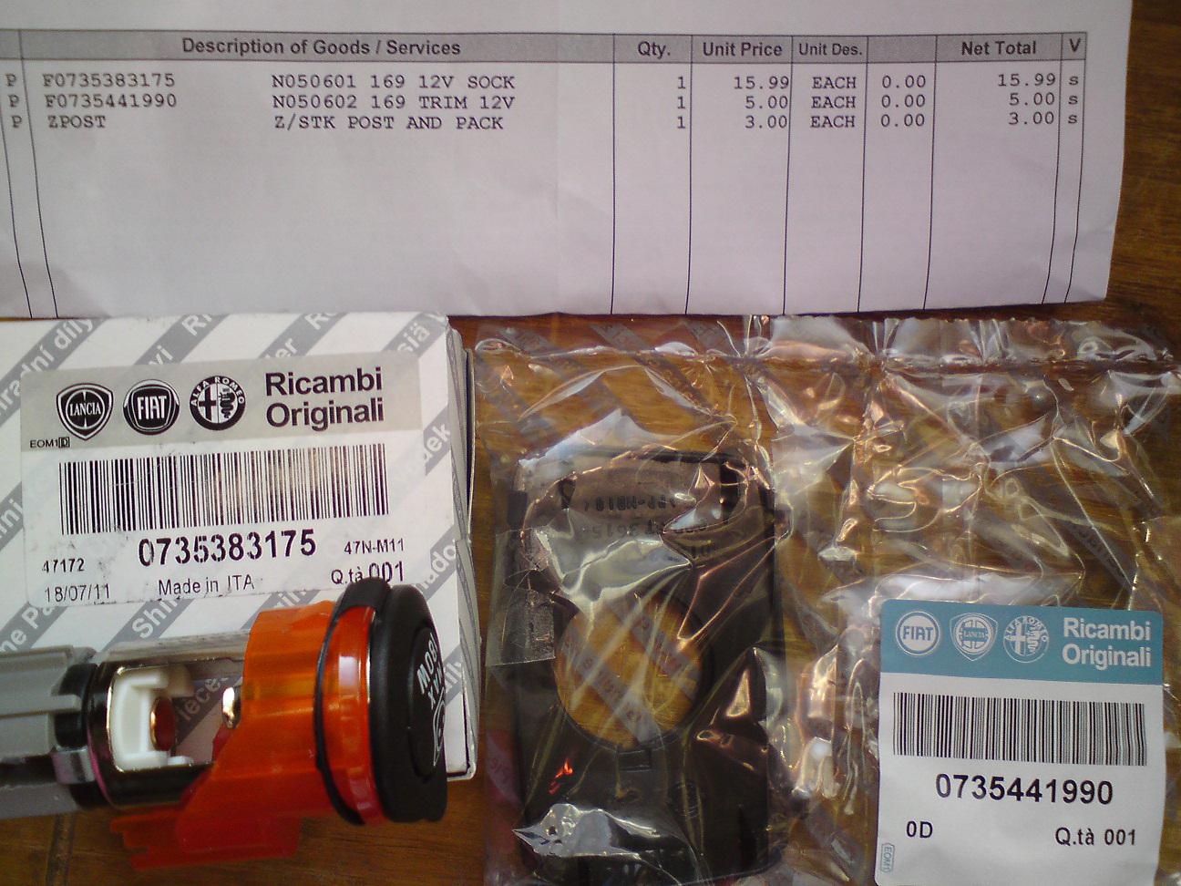 General  Installing A 12v Power Socket In A Fiat Panda