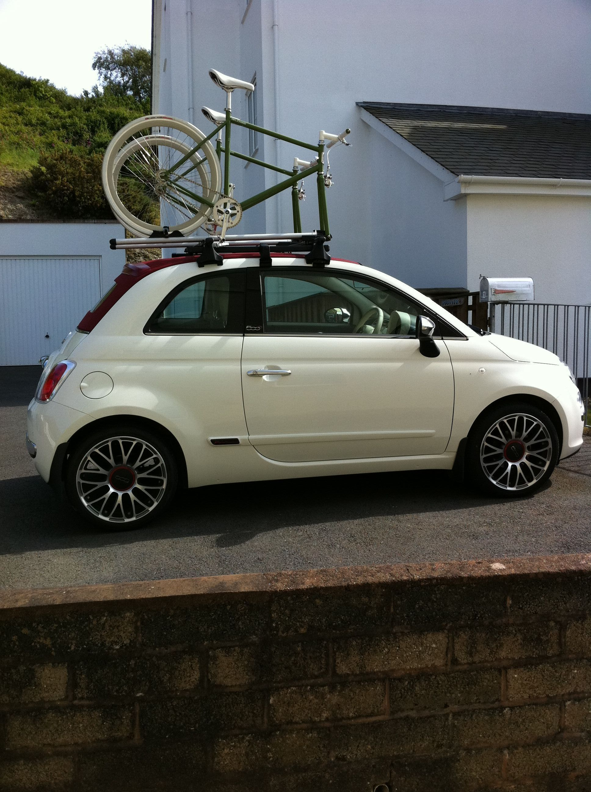 Fiat 500c Lounge 17 Inch Abarth Alloys Full Roof Rack
