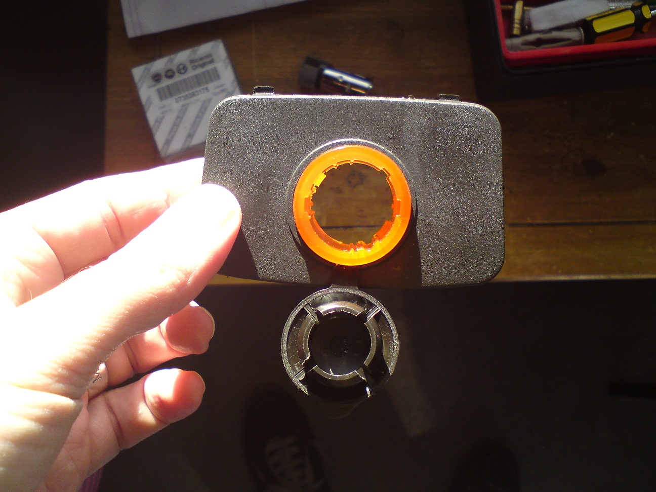 General Installing A 12v Power Socket In Fiat Panda The Forum 500 Fuse Box Cigarette Lighter Fit Through Orange Casing It Will Only Go One Way