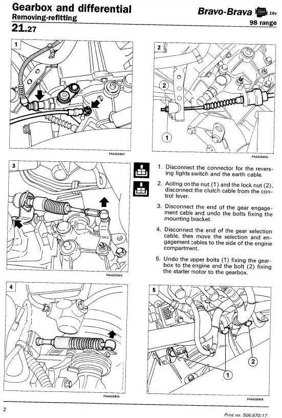 Technical Earthing Points In The Engine Bay The Fiat