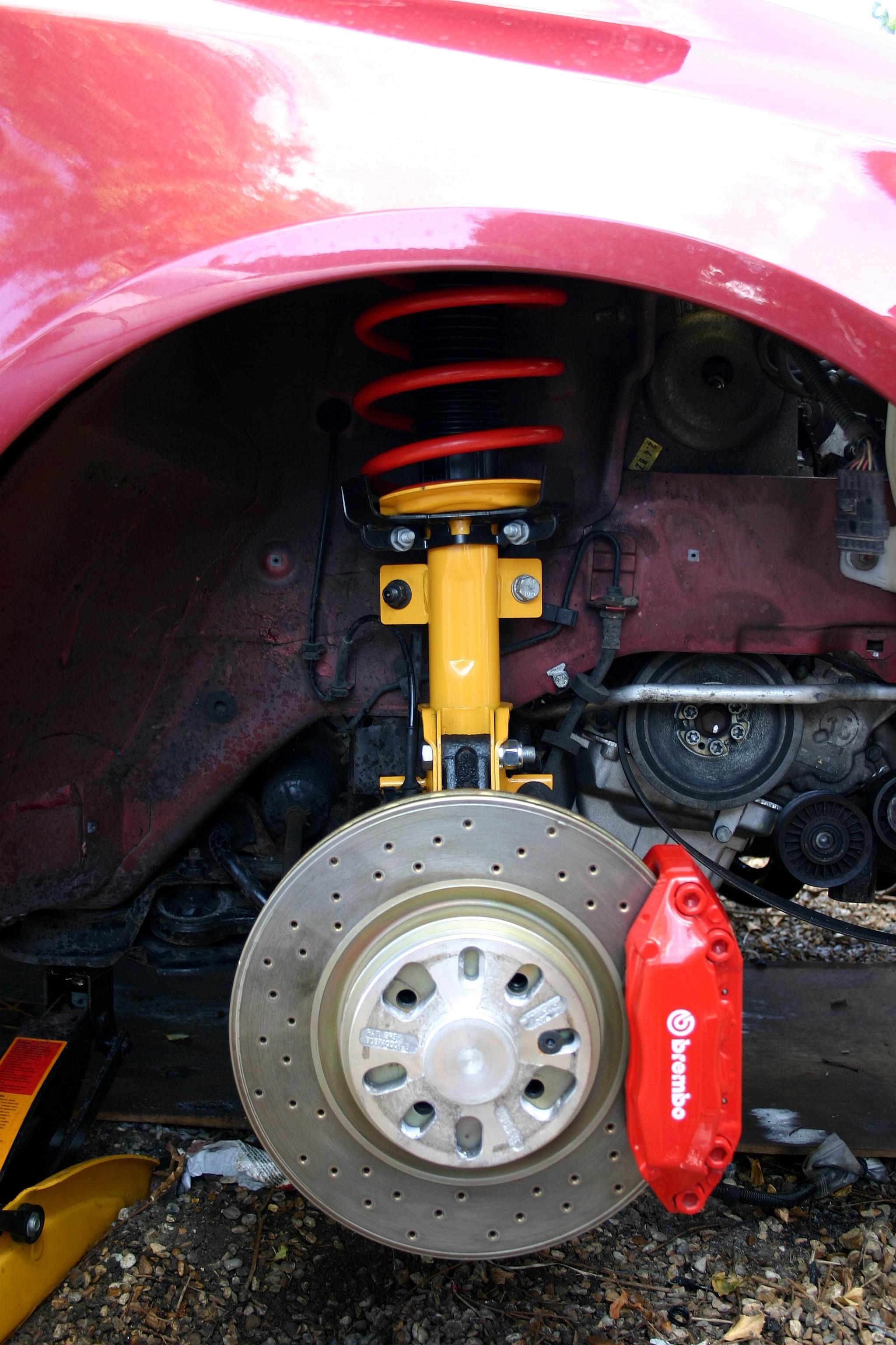 Fiat Stilo Malowanie Zaciski Hamulc 243 W Na Czerwono Fiat